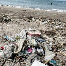 逗子海岸に大量のごみ漂着ようやく回収 今後も「浜のごみ拾い」気軽に参加を!トングなど道具貸出