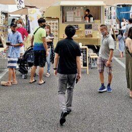 キッチンカー賑わい作る 鶴見駅西口で初のマルシェ 9月26日は豊岡町19の駐車場で!!