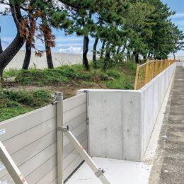 <横浜市金沢区護岸工事> 防潮堤が完成 19年台風15号で高波被害