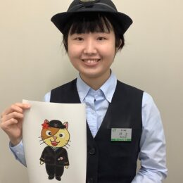 茅ヶ崎駅キャラが誕生しました!「また旅に」ネコの『ちがさき〜にゃ』