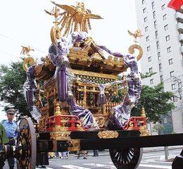 横浜市南区の「お三の宮日枝神社」名物の大神輿を修繕へ協賛金募る