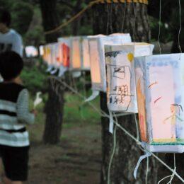 10/23開催 境内に約300個の行灯の灯がともる「瀬戸秋月祭」@横浜市金沢区 琵琶島神社