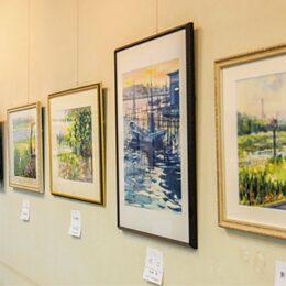 水彩画を中心に多彩な川の姿が並ぶ「多摩川の風景絵画展」@川崎市多摩区・二ヶ領せせらぎ館
