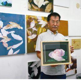 キャンバスから匂い立つバラの香りと影の揺らめき「米満泰彦 展」@元麻布ギャラリー平塚